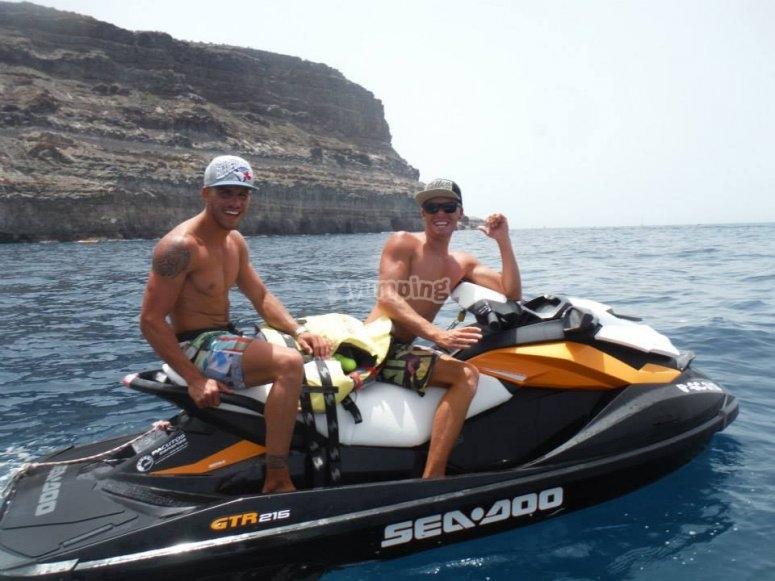 Water bike in Gran Canaria