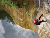 Abseiling in the canyon