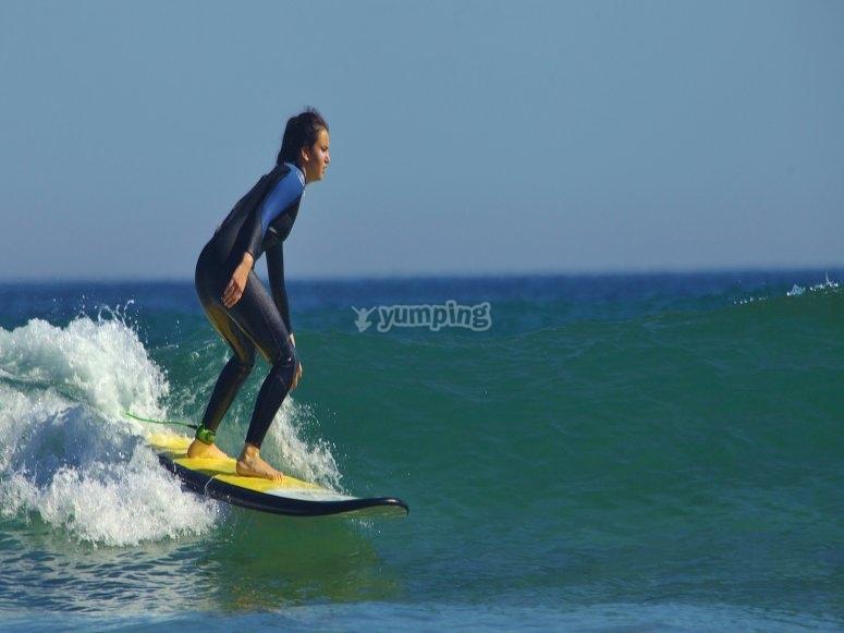Clases de diferentes niveles surf