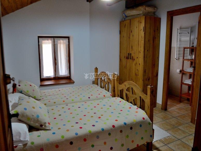 Albergue con habitaciones dobles