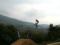 Volando en bici
