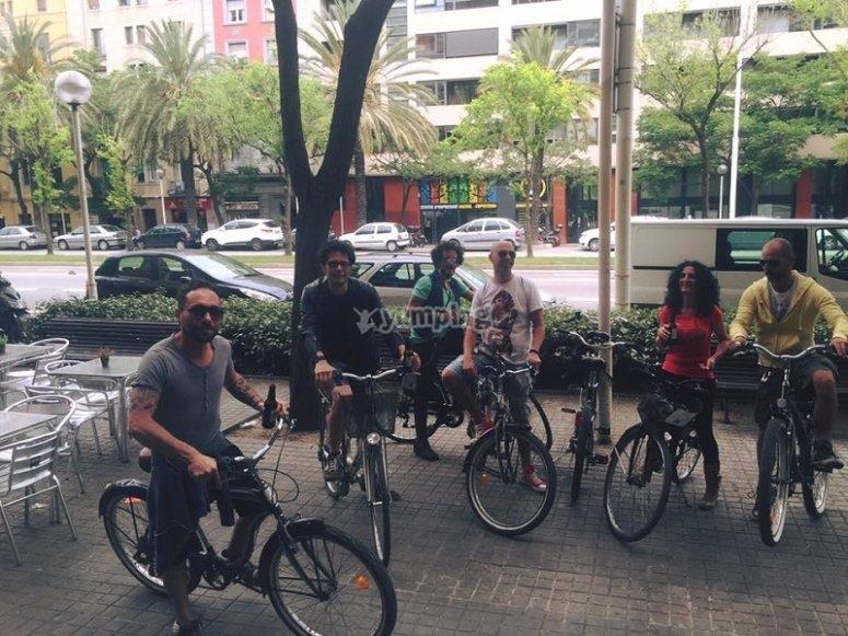 巴塞罗那自行车出租骑自行车