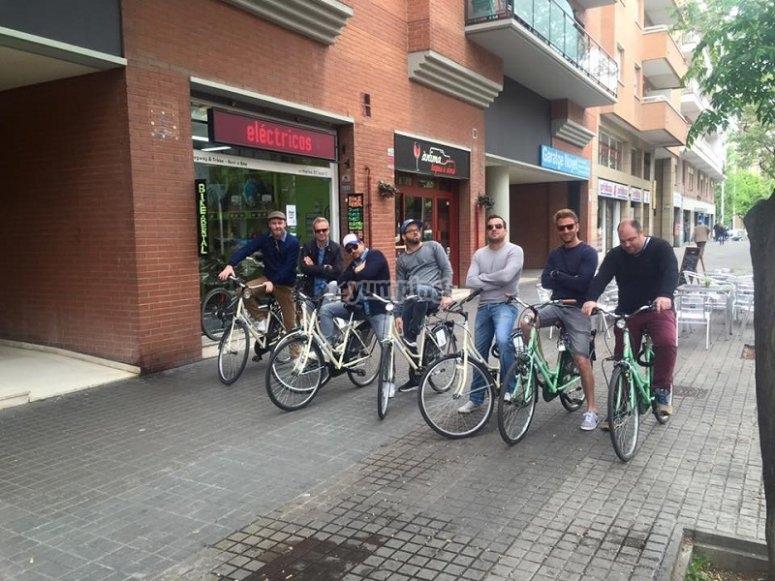 蹬自行车路线的意见在巴塞罗那