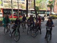 Pedalling through Barcelona