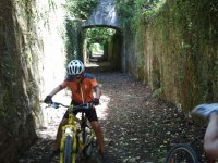Bike section in a grotto