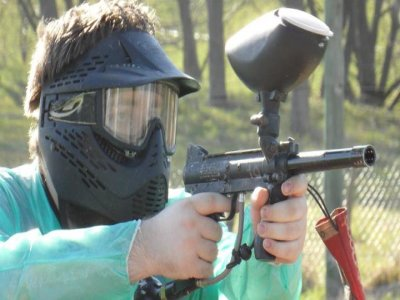 Gioco di paintball in Rentería con 300 palline