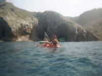 Piragu in the sea