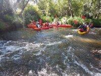 Descenso en grupo río Tormes en kayak