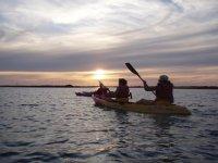 Atardecer increible en kayak