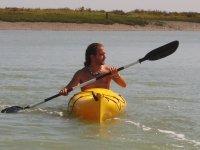 Navegando en kayak en Sancti Petri