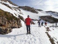 rutas de raquetas de nieve