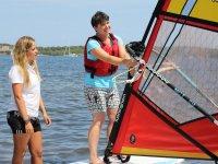Aprendiendo windsurf en Ses Salines