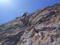 Material de escalada para ascensión vía ferrata