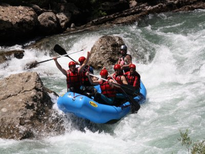 Rafting e hidrospeed para team building, Campo