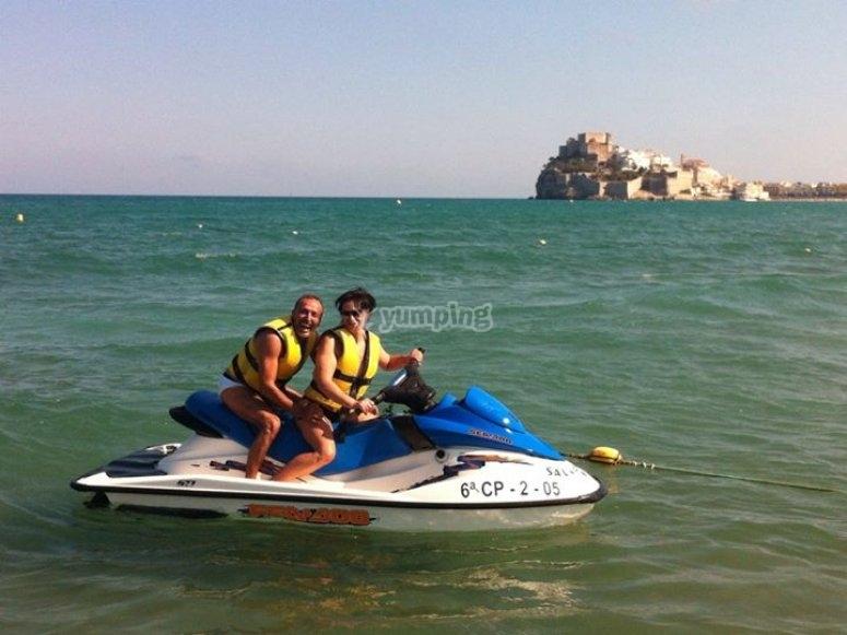 In giro per la Costa de Azahar su una moto d'acqua