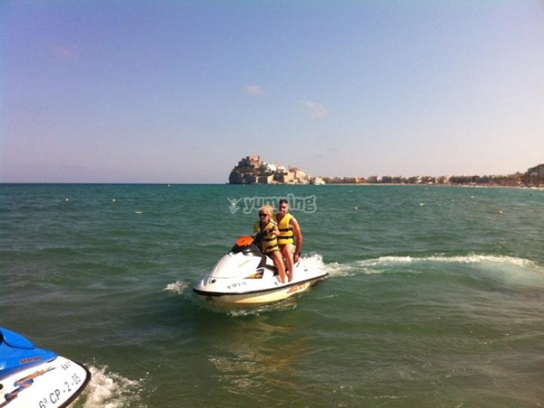 Trying the Jet ski