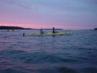 Kayaks avec des amis