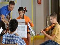 Practicando en la clase