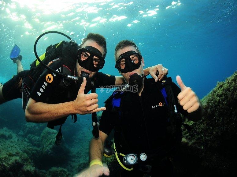 PADI dive at 18 m