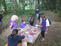 Pintando en el bosque