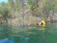 Rafting descent in Dehesa de Poyatos