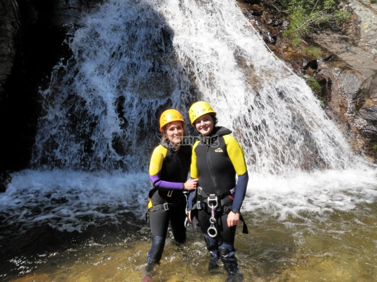 Barranquismo junto a las cascadas