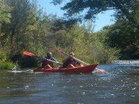 Discesa in canoa a due posti