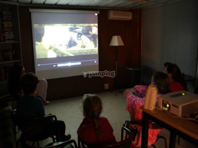 Cinema screening in the evening