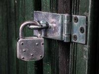 门上的挂锁