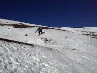 A Snowboard jump