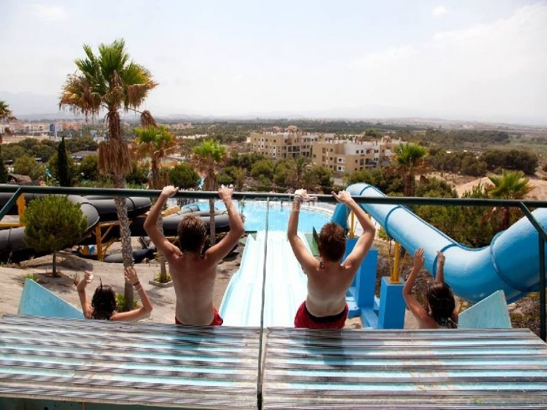Attractions to the water park of Vera