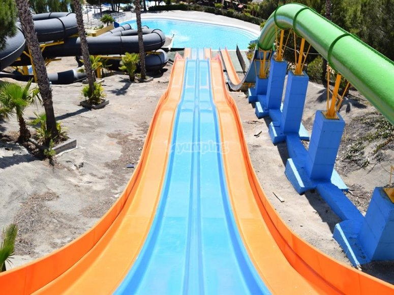 Great slide in the water park of Vera