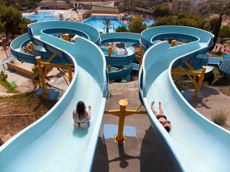 Slides of the water park of Vera