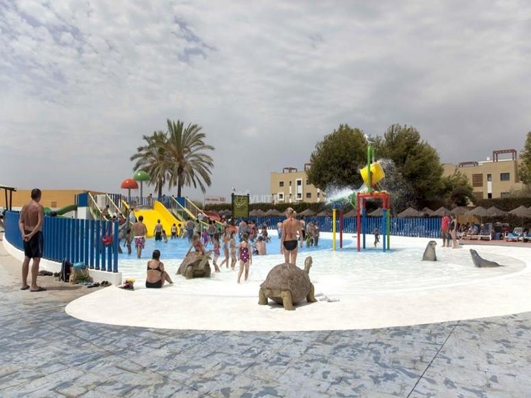 Children´s zone in the water park of Vera