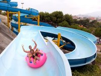 Doughnut in the slide of the water park of Vera