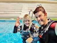 Bautizo en Piscina+ reportaje fotos submarino