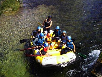 Rafting tramo Tamayo, río Cabriel, 2 horas