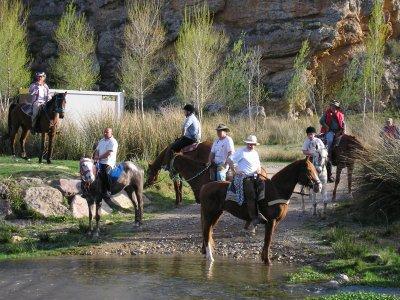 1 hora de ruta a caballo por Sierra de Moncayo