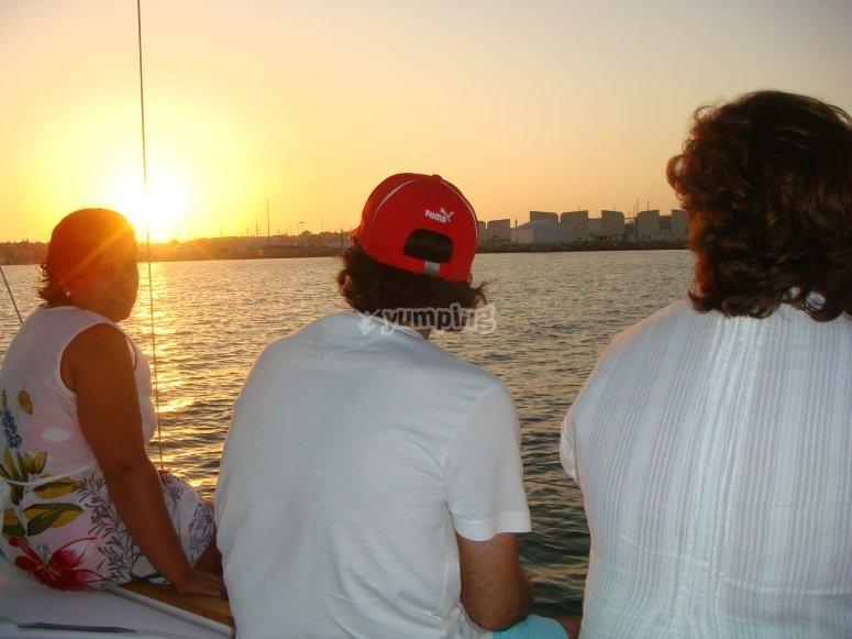 Paseo por la bahía de Cadiz