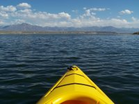 Vista frontale della canoa