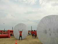 Practice Zorbing with your friends
