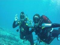 Bautizo de Buceo en mar desde Risco Verde