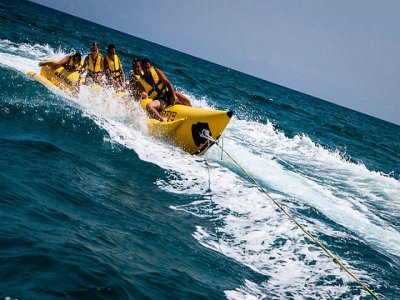 10 minute ride in a banana boat at Marbella