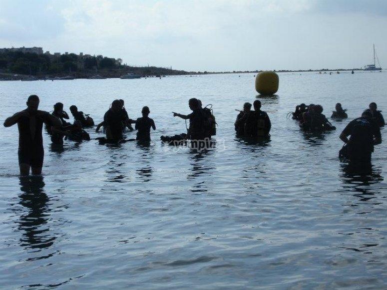 Alumnos antes de la inmersion