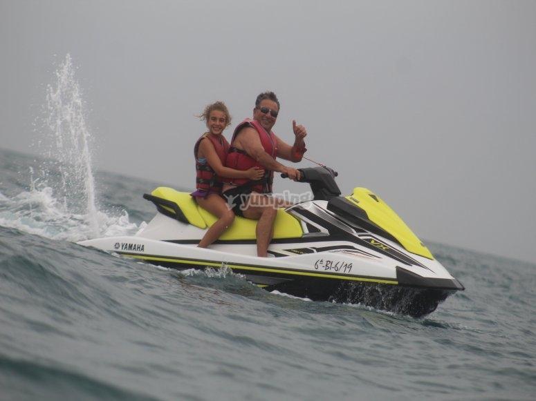 Salida en moto de agua