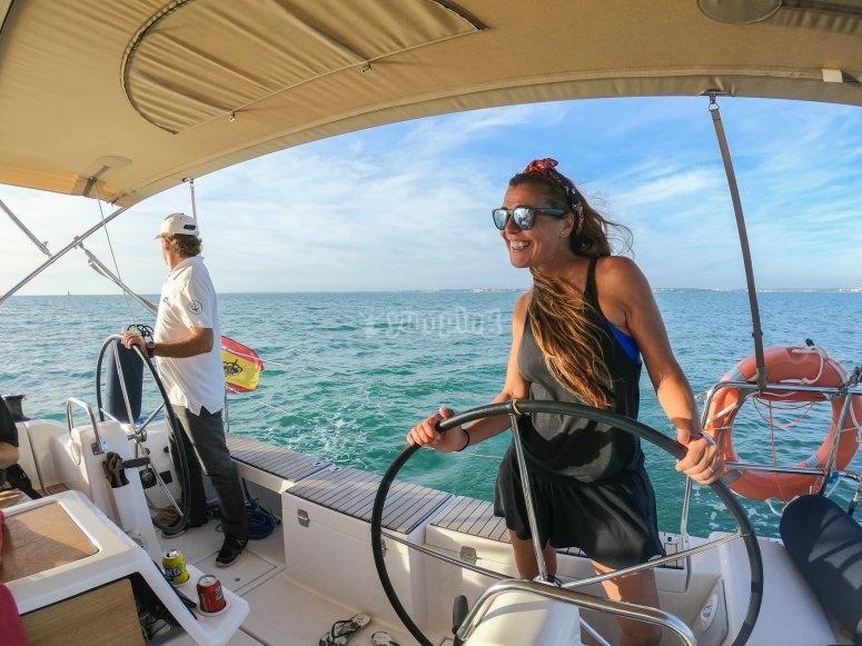Patrona por un día de velero