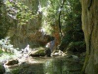 Aguas estancadas en el rio