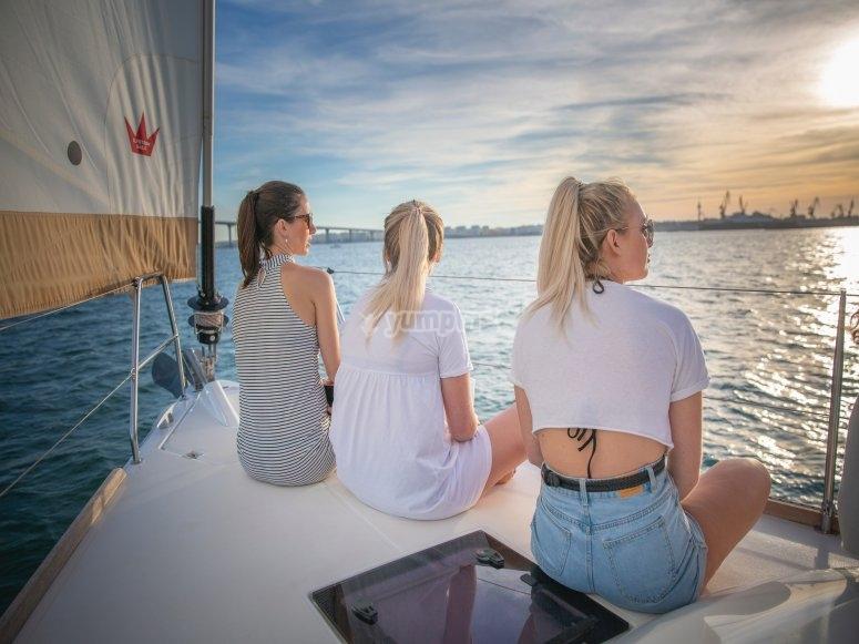 Experiencia en el mar con amigas