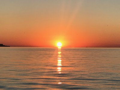 Puesta de sol en barco bahía de Cádiz 2 horas