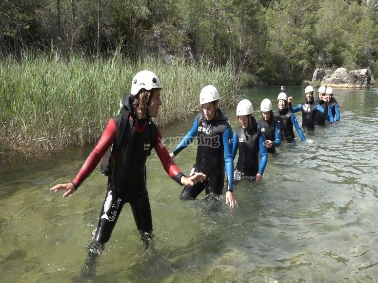 Hiking stretch in the river Júcar